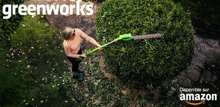 Outillage jardin Greenworks en promotion