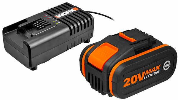 Pack batterie 20V 4Ah et chargeur 20V Worx
