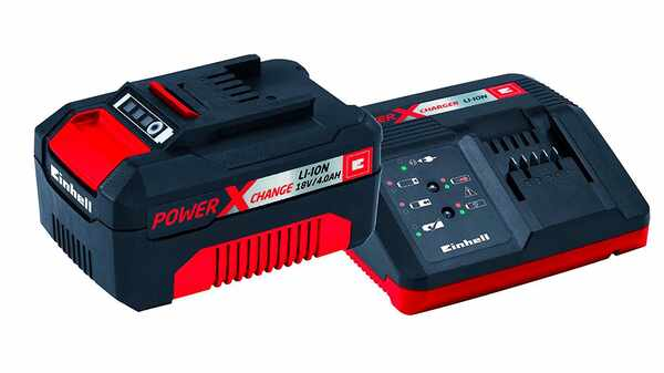 Pack batterie et chargeur Einhell 18 V 4.0 Ah Power X-Change PXC