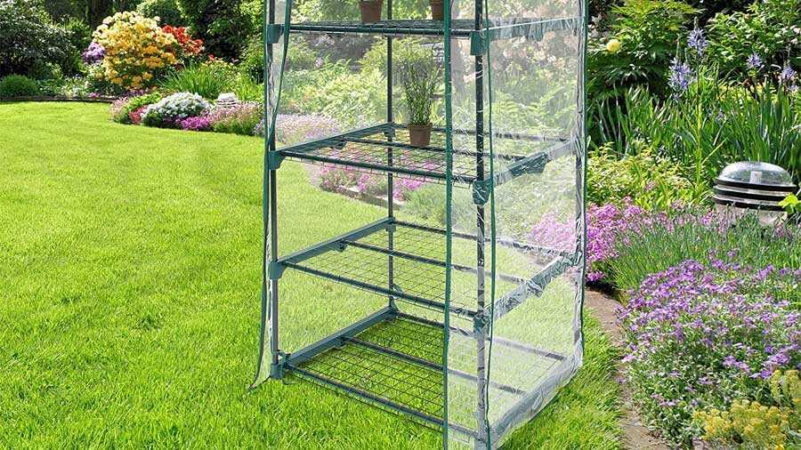 Serre de Jardin Balcon Terrasse Transportable Relaxdays 10018890-349